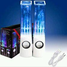 Agua Blanca Bailando altavoces estéreo de música Led Fuente De Luz Para Iphone Ipad Pc