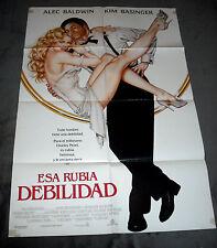 1991 The Marrying Man - Baldwin/Basinger vintage OS original 27x41, Spanish ..#b
