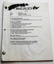 MADtv * 2000 TV Show Script * Sketch Comedy show based on Mad Magazine *