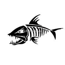2 pegatinas angry fish 5 pescado auto sticker decal 17 cm tuning JDM