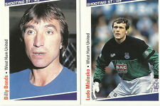 WEST HAM UNITED FOOTBALL Cards SHOOTING STARS by MERLIN Publishing 1991/2 x 15