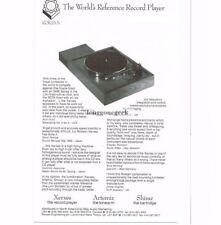 1989 Roksan Xerxes Turntable Artemiz Tonearm Stereo Hi-Fi Vtg Print Ad