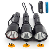 Q5 Diving Flashlight AA LED Waterproof Torch Underwater Flash Light Lamp Fishing