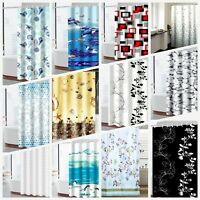 100% Polyester Printed Shower Curtain Elegant Washable Fabric +12 Hook 180x180