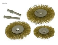 5Pc Flat Wire Wheels For Drill Rust removing / Remover Rotary Brush