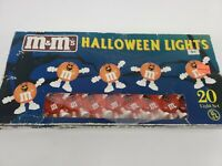 Vintage M&Ms candy Halloween String Lights. 11 feet NEW IN PACKAGE