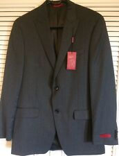 NEW ALFANI Mens Gray Slim Fit Wool Suit Blazer Jacket 38R Solid TIDW1Q6Z01 $360