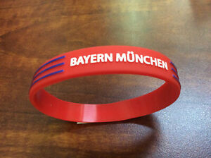 Soccer Bayern München Adult Rubber Wristband, Red, One Size