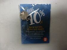 Weight Watchers 10% WEIGHT LOSS SILVER AWARD CHARM NEW In Orig.Pkg.