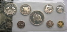 Bahamas 1975 Proof Set of 9 Coins,With 4 Silver Coins