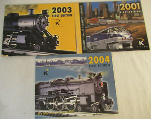 K-Line First Edition Catalogs for 2001, 2003 and 2004