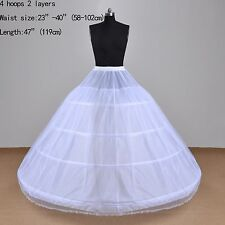 Four Steel  Hoops Two Layers Wedding Accessories Petticoat For Wedding Dresses
