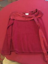 Magaschoni Collection Womens Burgandy Cashmere Sweater M E20