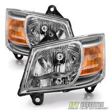 2008-2010 Dodge Grand Caravan Replacement Headlights Headlamps 08-10 Left+Right