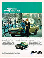 PUBLICITE ADVERTISING 025  1978  NISSAN DATSUN  120Y MR&MME MAUPETIT à ARLES