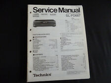 Original Service Manual Technics sl-pd687