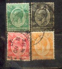Kenya Uganda 4 KGVI Old Stamps