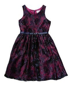 Sweet Heart Rose Purple & Navy Floral Lace A-Line Dress Size 7 item #50440654 J