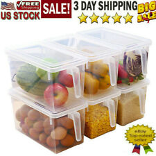 Refrigerator Storage Box Food Container Kitchen Fridge Organizer Freezer Fruit
