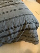 Nautica Sebec Reversible Comforter Sheets Twin XL Black Grey Navy Striped Cotton
