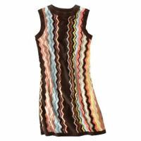 Missoni Colore Brown Chevron Knit Sweater Dress -  Women's Large L