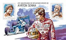 Guinea-Bissau 2014 Ayrton Senna Stamp Sheet Michel #7072-3 GB14103b