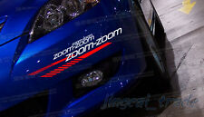 Zoom-Zoom Logo Car Auto SUV Window Body Vinyl Sticker Decal for Mazda Mazdaspeed