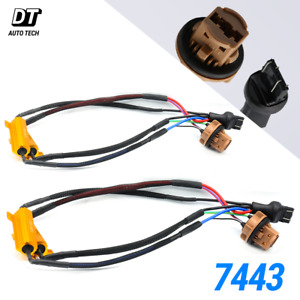 7443 LED Rear Turn Signal Load Resistor Adapter Anti Hyper Flash Error Canceler