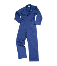 Stud Front MENS BOILER SUIT OVERALL COVERALL MECHANIC COLLEGE WORK NAVY BLUE