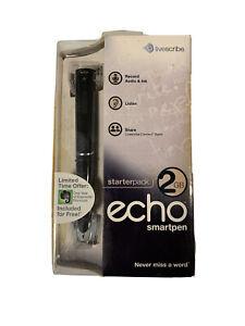 BRAND NEW, LiveScribe Echo Smart Pen Starter Pack 2GB - Free Shipping