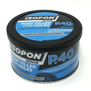 Isopon P40 Fibre Glass Filler 250ml Body Filler For Holes & Rust Body Repair