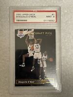 1992-93 Upper Deck Trade Card Rookie #1 Shaquille O'Neal RC PSA 9 MINT