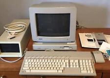 Vintage Atari Mega St4 Computer w/ Monitor Keyboard Mouse Manuals Hard Drive