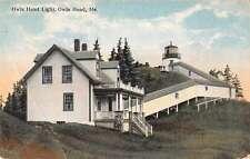 Owls Head Maine Owls Head Light Lighthouse Antique Postcard J48850