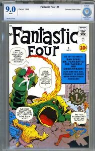 Fantastic Four #1 - German Gold Stamp Variant / Reprint - CBCS 9.0 - White Pages