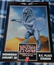 ROLLING STONES CONCERT POSTER BRIDGES TO BABYLON VANCOUVER JANUARY 28/98 NICE!