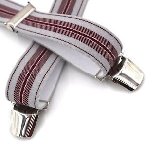 Hosenträger Herren /Damen - Hosenträger breit mit 4 Hosenträgerclips EXTRA STARK