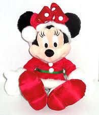 "Disney Minnie Mouse Mrs.Santa Dress Plush Toy 19"" Christmas Theme Parks New"