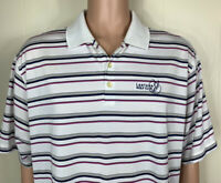 Nike Golf Dri fit Men's Striped Polo shirt size XL LANTANA CLUB Short Sleeve