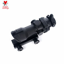 Tactical 1X 32 Red Green Dot Sight Scope with 20mm Weaver Rail Mount for Rifle