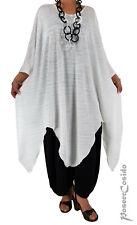 LAGENLOOK Tunika-Kleid Zipfel-Look XL-XXL-XXXL 44 46 48 50 52 54 56 58 ecru