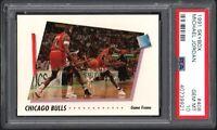 1991-92 Skybox #408 MICHAEL JORDAN Chicago Bulls PSA 10 GEM MINT