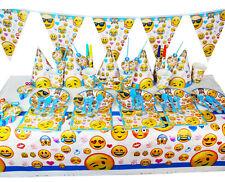 90pcs/set New Luxury Kids Emoji Theme Birthday Party Supplies Tableware Set