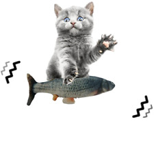 30CM Pet Cat Toy USB Charging Simulation Electric Dancing Moving Floppy Fish Cat