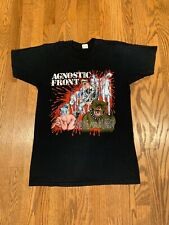 VTG 1986 AGNOSTIC FRONT Tour Shirt Cro Mags Warzone Sick Of It All Madball NYHC