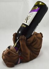 Superb British Bulldog Wine Bottle Holder. Bar/Restaurant Man Cave/Den Guzzlers