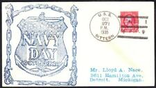 Minesweeper USS BITTERN AM-36 NAVY DAY Cavite Philippines Naval Cover (7789y)