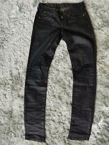 G-Star Corvet Skinny WMN W28/L34 dunkelgrau/schwarz beschichtet