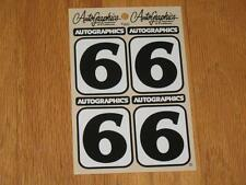 Autographics of California No Number 6 Decal Sticker Sheet RC 10 RC10 NASCAR 2.1