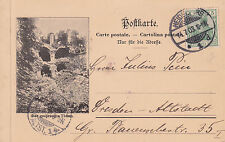 AK, ~1903, Heidelberg, der Schlosshof mit dem Wartturm, nach Dresden,